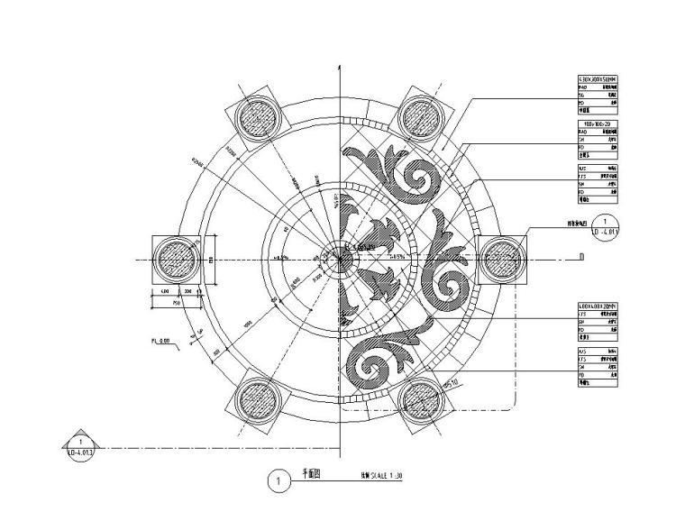 特色亭子设计详图 (钢筋混凝土结构)
