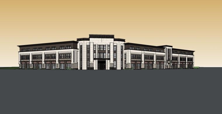 11套ARTDECO风格-售楼处建筑su模型-绿地武进武柴厂