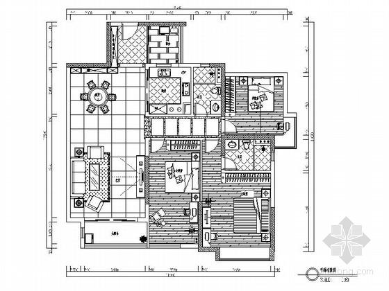 [广东]经典简约现代风格三居室室内设计装修施工图