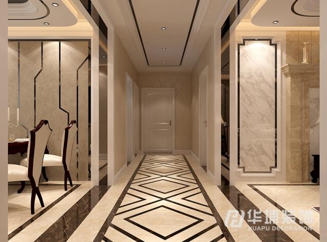 装修风格:欧式新古典 天地湾四居室146平方走廊装修
