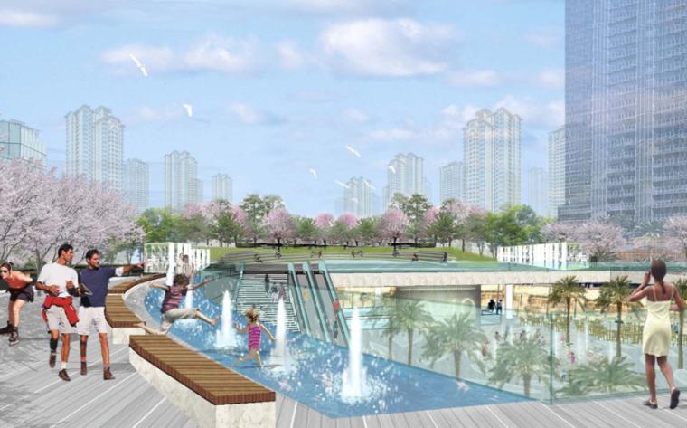 [广西]七彩云南第一城景观方案文本-AECOM(商业核心区景观设计)