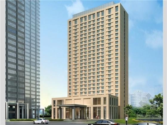 [天津]现代高层豪华商务酒店建筑方案扩初设计文本