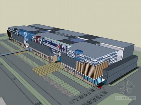 大型超市SketchUp模型下载-大型超市
