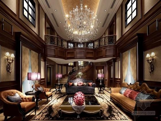 [郑州]古典奢华欧式双层别墅样板房方案图