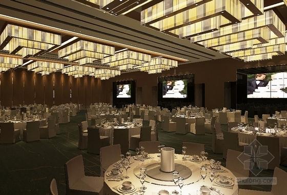 [北京]东三环CBD全球控股超五星级高端豪华白金酒店施工图(含效果)大宴会厅效果图