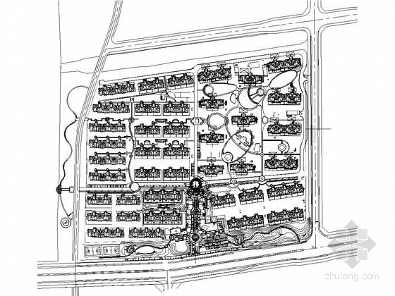 [扬州]古运河居住区地块样板区景观设计全套施工图(详细)