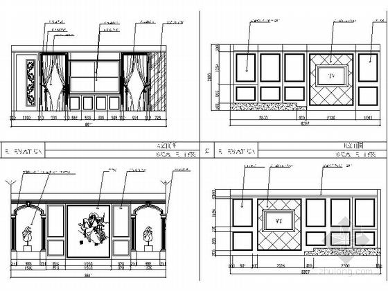 [武汉]商业街大型综合量贩时尚古典KTV装修图(含效果)商务包立面图