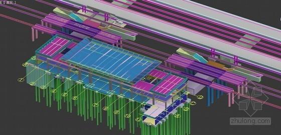 [江苏]地下通道基坑开挖支护及现浇主体结构施工方案(大量效果图)