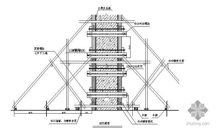 北京某办公用房改建工程模板施工方案(鲁班奖、有计算)