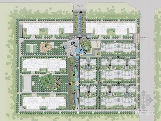 [河南]独创禅意居住区景观规划设计方案