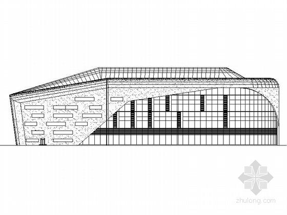 [大连]高层L形框架结构乙级体育训练馆建筑施工图