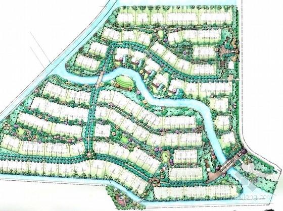 [上海]郊外湖滨地块豪华居住区景观规划设计(手绘)