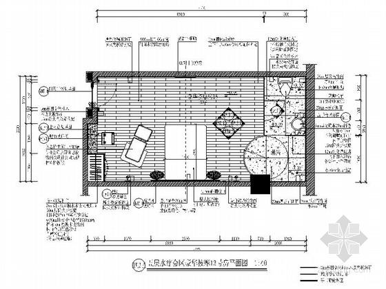 [山西]经济商圈现代休闲水疗会所装修施工图