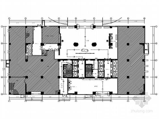 [厦门]原创黄金地段综合性商业国际大厦室内装修施工图(含效果)