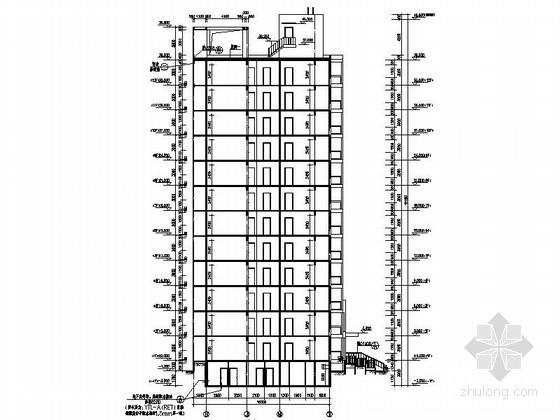 现代风格高层住宅区建筑剖面图