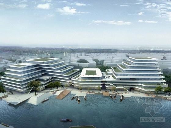 [浙江]滨水现代风格退台式商业综合体建筑设计方案文本