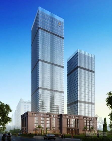 57层框架核心筒结构酒店办公楼结构施工图(213米 含裙房)