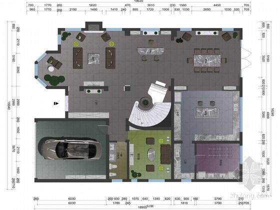 [银川]精品雅致法式风格两层别墅装饰概念设计方案