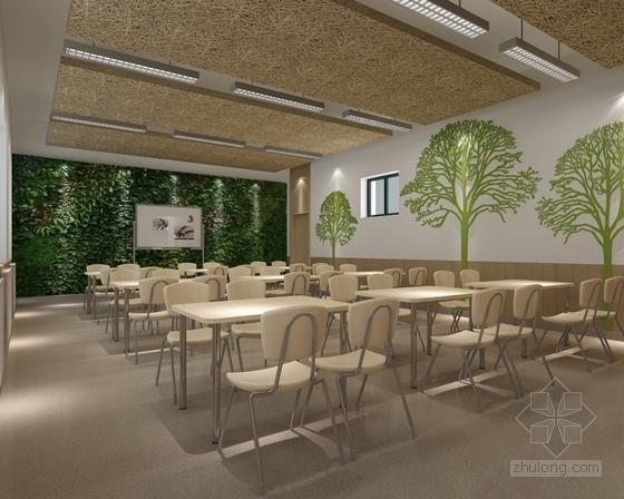 [原创]现代风格小学室内设计装修施工图(含高清效果)自然教室效果图