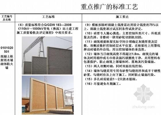 变电站重点推广标准工艺实施方案