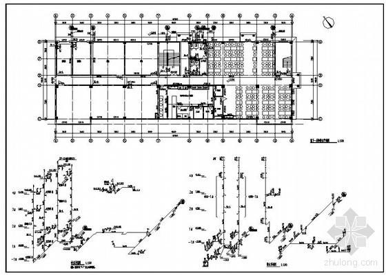 四川某四层办公楼给排水施工图