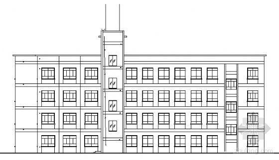 某中学四层教学综合楼建筑方案图