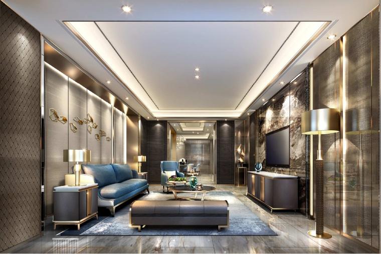 [上海]梁志天-融创滨江壹号院住宅项目室内设计概念深化软装方案