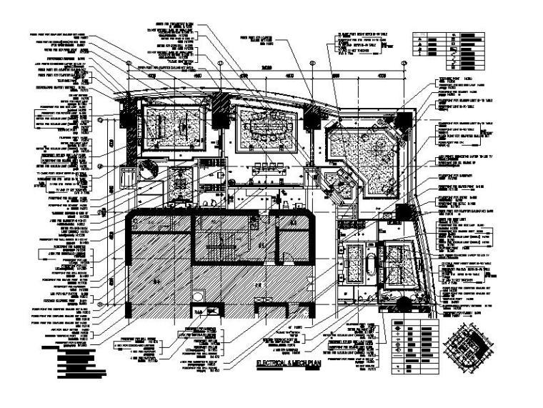 [上海]豪华五星酒店室内设计施工图(含效果图)