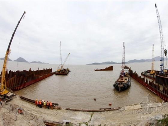 [广东]排水泵站基坑双排钢板桩围堰与钢支撑施工方案