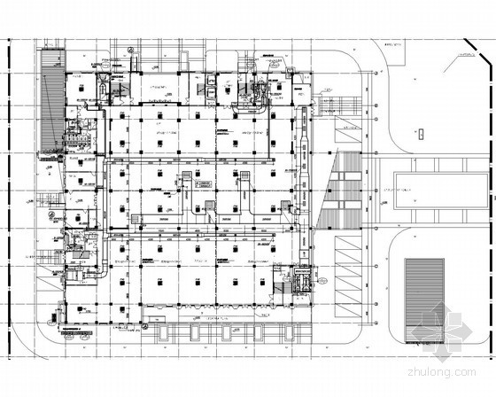 [江苏]办公楼舒适性空调及通风排烟系统设计施工图(智能感应送风)