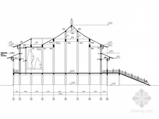 单层框混仿古建筑结构施工图