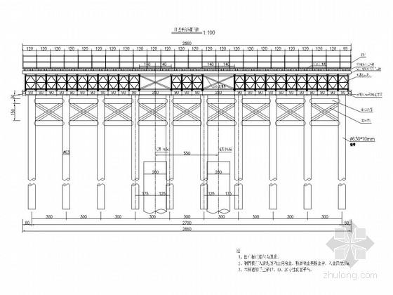 [河北]跨海大桥工程钢栈桥投标方案设计图(含施工方案)