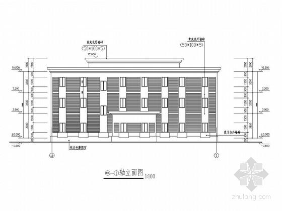 三层框架结构法院办公楼结构施工图(含建筑图)