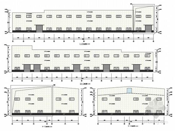 16米高双跨钢结构生产车间结构施工图(含建筑图 计算文件)