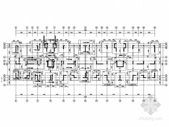 两栋8层剪力墙结构住宅楼结构施工图(含PKPM计算书)