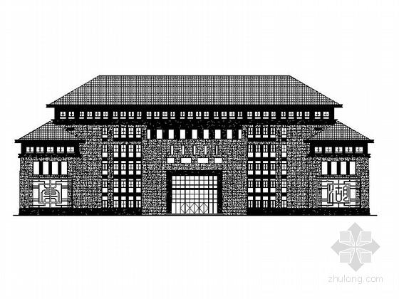 [四川]高层品字形布局四坡屋顶县级中学建筑施工图(含效果图)