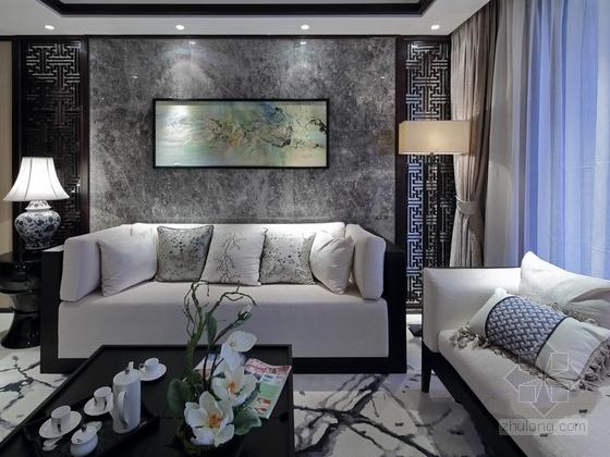 [福州]淡雅中式风格三居室样板间装修图(含实景) 实景图