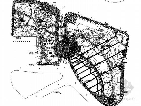 [上海]不夜城公共绿地景观施工图(全套)