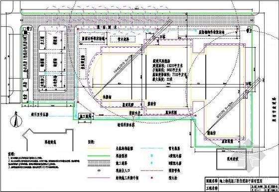 体育馆工程土方、结构、装修施工现场平面布置图(4张)
