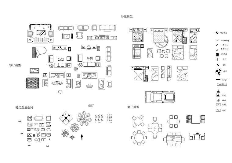 [分享]cad平面图图块资料下载图纸弱电系统图片
