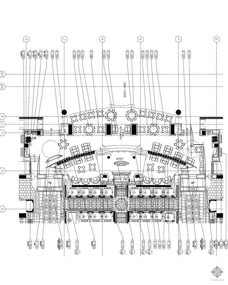 [北京]金融街某大酒店设计平面图