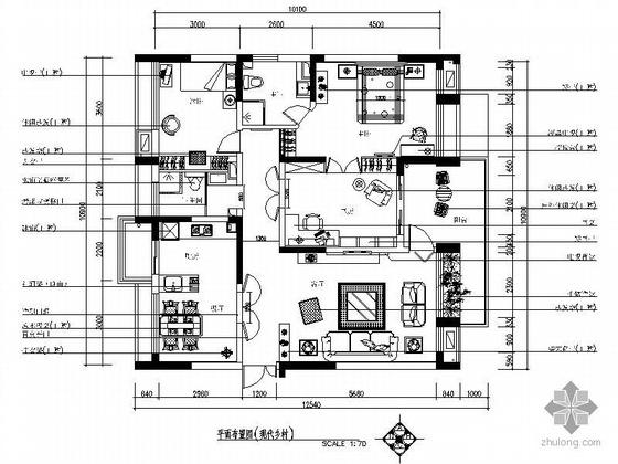 [杭州]现代乡村风格三居室装修图
