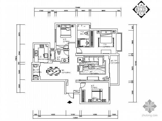 [无锡]简约三室两厅设计图(含效果)
