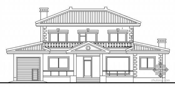 某二层欧式小面积别墅式住宅建筑结构施工图