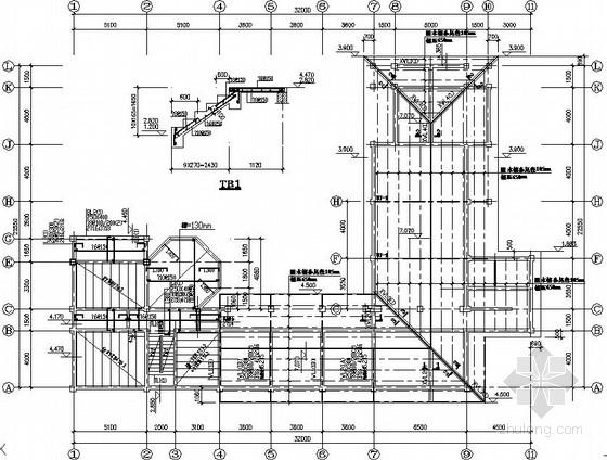 临时建筑结构施工图(混合结构 木屋架)