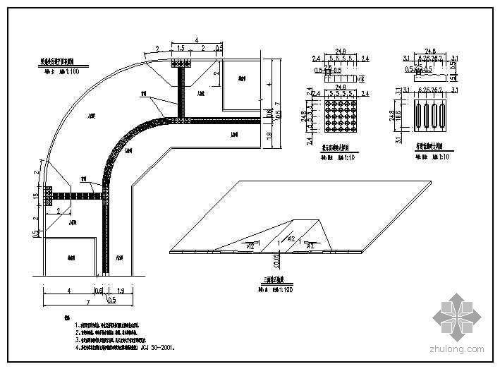 某城市道路施工设计图