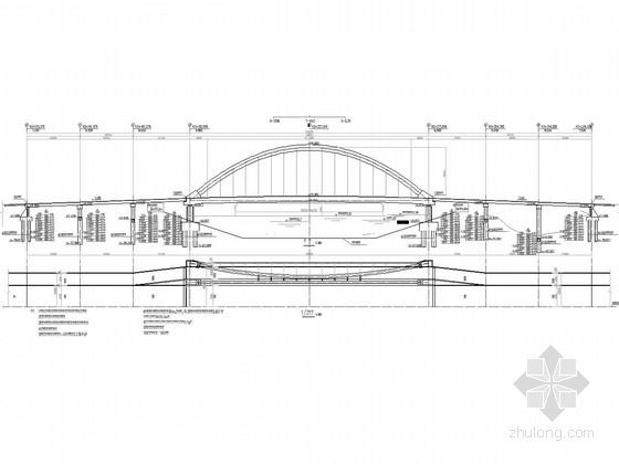 [江苏]桥宽33.5m跨径90m斜靠式系杆拱桥设计图纸56张