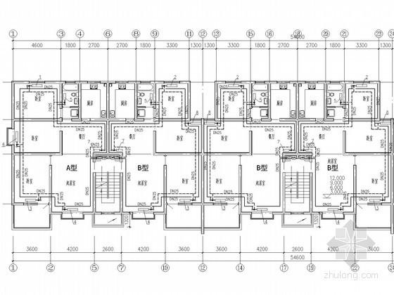 多层家属住宅楼采暖系统设计施工图(分户计量采暖系统)