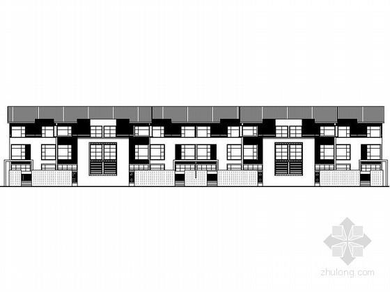 [深圳]某三层八联排徽式别墅(D型)建筑方案图