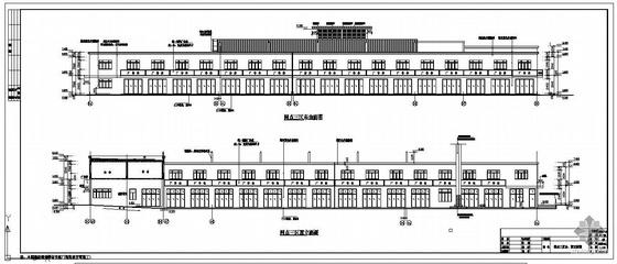 青岛某海鲜水产市场建筑结构设计图